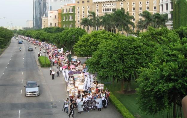 Sands China 'regrets' demo outside Venetian Macao