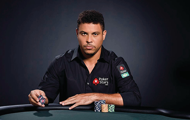 Former Brazil soccer star Ronaldo at PokerStars Macau