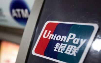 Rogue Macau UnionPay transactions US$262 mln in 1H