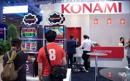 Konami 1H profit up 40pct, gaming segment down 22pct