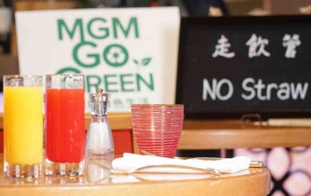 Throwaway plastic ban at MGM China eateries from 1Q 2019