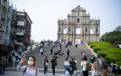Macau visitor tally up 255pct in March, but 1Q down