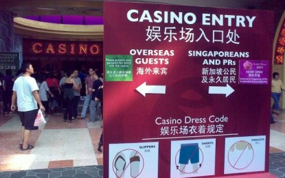 S'pore considers casino self-barring for groups of locals