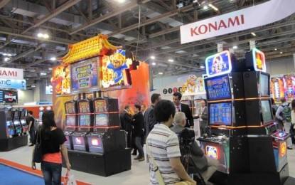 Konami's quarterly gaming revenue up by 12 pct