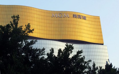 Net revenue down 2 pct at MGM China in 3Q