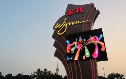 Wynn Macau shares slide 10pct on gloomy 4Q outlook