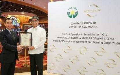 City of Dreams Manila receives regular gaming licence