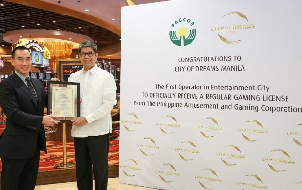 City of Dreams Manila receives regular gaming licence
