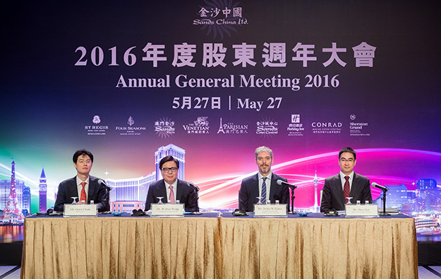Casino firm Sands China confirms 2015 dividend