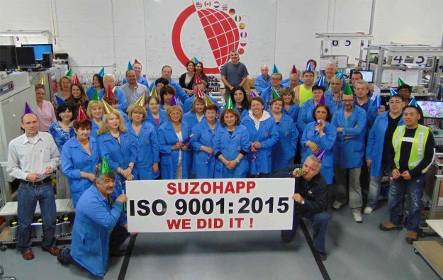 SuzoHapp bill validator factory gets ISO award