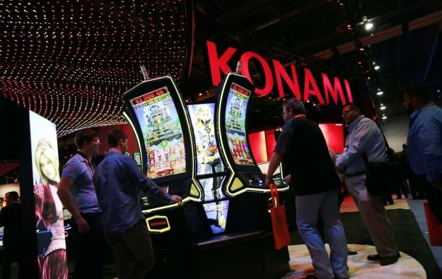 Konami slot division rev, profit down year-ended March