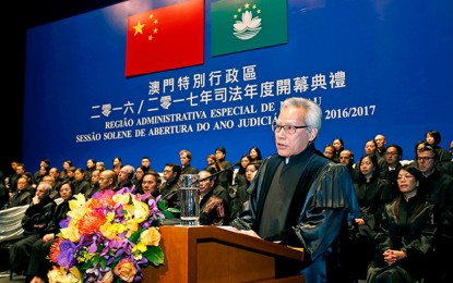 Macau's top judge gives warning on gaming crime trend