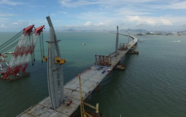HK-Zhuhai-Macau Bridge year-end completion target