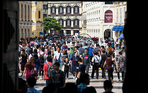 Macau tourist numbers still rising despite HK protests