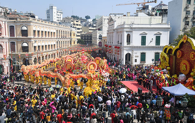 Macau Chinese New Year arrivals up 10 pct Feb 15 to 18