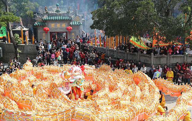 Macau CNY visitor numbers up 8 pct Feb 15 to 20
