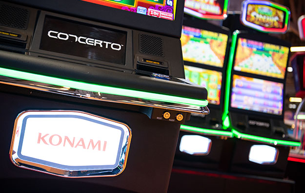 Konami slot division quarterly revenue, income up